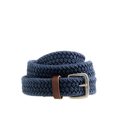 This intricately braided belt features a nautical-inspired patch at the tip, making it a style that's fun enough for hanging out with his friends and polished enough for family outings. 1¼
