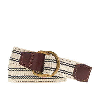 Ticking-stripe belt