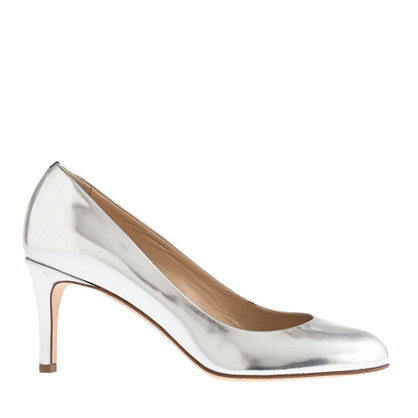 Miri midheel mirror metallic pumps