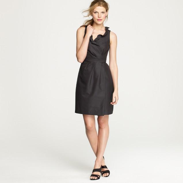 Blakely dress in cotton-silk faille