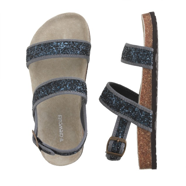 Girls' shimmer sandals