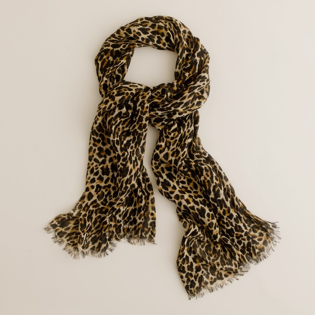 leopard print scarf j crew. Black Bedroom Furniture Sets. Home Design Ideas