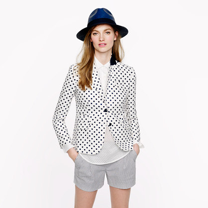 Classic schoolboy blazer in dotted linen