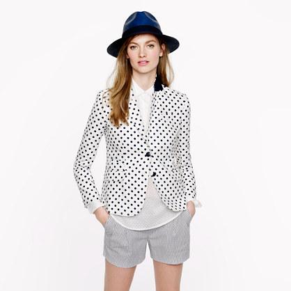 Classic schoolboy blazer in dotted linen
