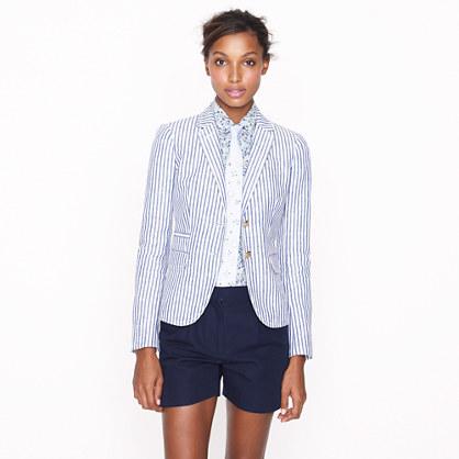 Classic schoolboy blazer in stripe linen