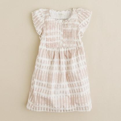 Girls' tie-dye flutter dress