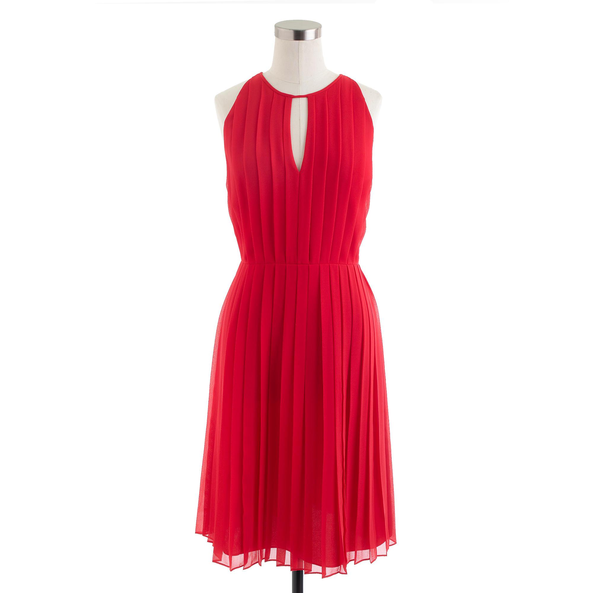 Pleated chiffon dress : | J.Crew