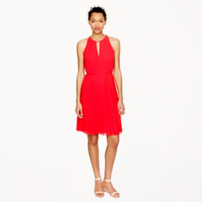 Pleated chiffon dress : | J.Crew
