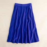 Liquid silk skirt
