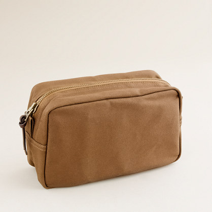 Rugged twill dopp kit