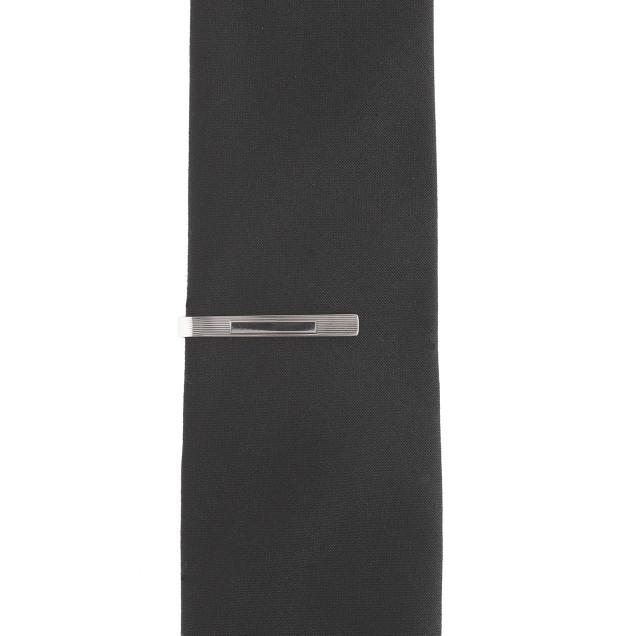 Sterling-silver plaque tie bar