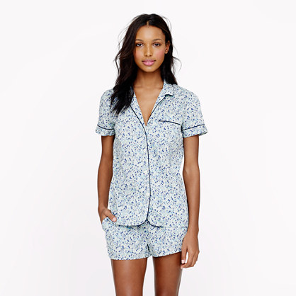 Liberty vintage short pajama set in Phoebe floral