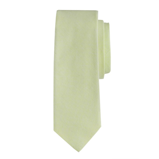 Neon oxford cotton tie