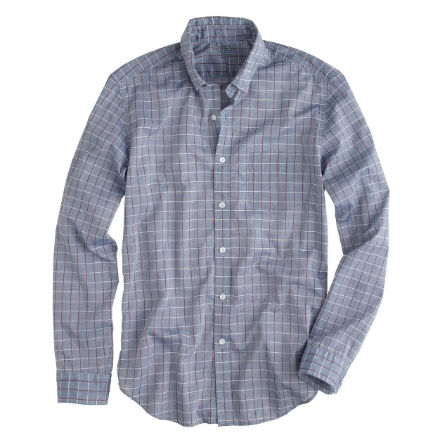 Lightweight chambray shirt in sunset check