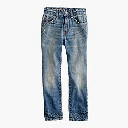 Boys' slim jean in rugged wash