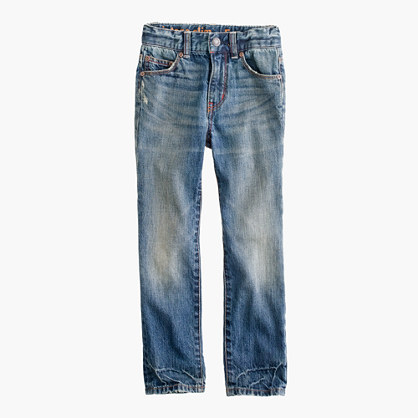 Boys' rugged wash jean in slim fit