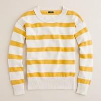Stripe-breaker sweater