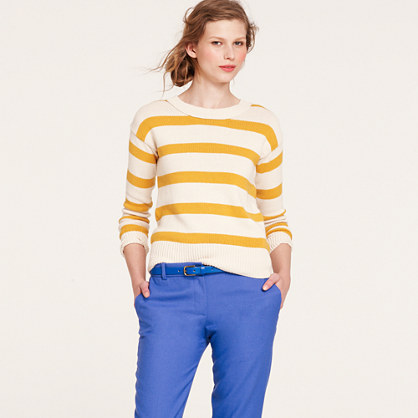 Stripe-breaker sweater