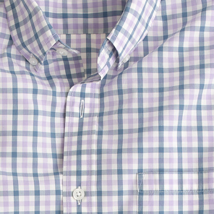 Slim lightweight shirt in estate blue check