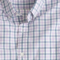 Tall lightweight shirt in estate blue check