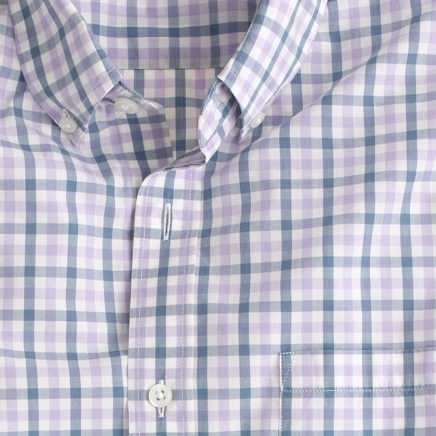 Tall lightweight shirt in estate blue check