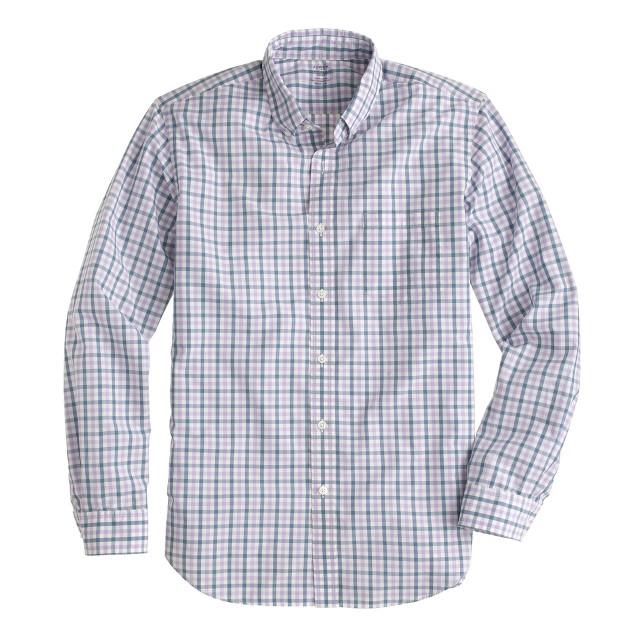 Slim lightweight shirt in estate blue check