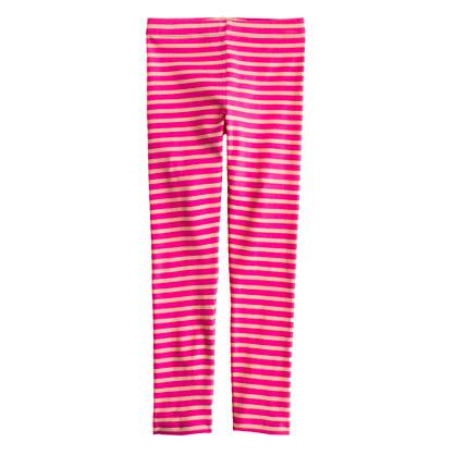 Girls' everyday leggings in stripe