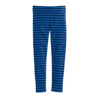 Girls' everyday leggings in stripe
