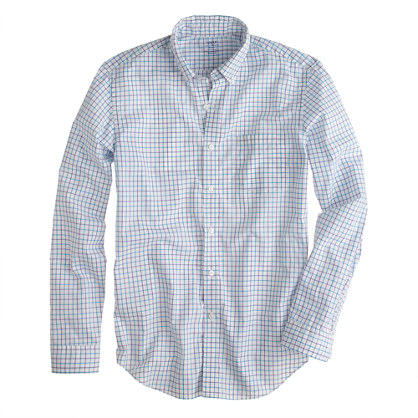 Lightweight shirt in purple check