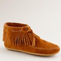 Minnetonka® pull-on fringe booties