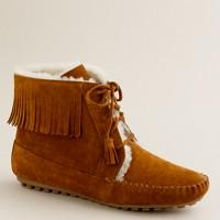 Minnetonka® shearling-lined lace-up boots