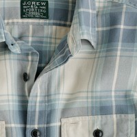 Tall vintage flannel shirt in Hadley plaid