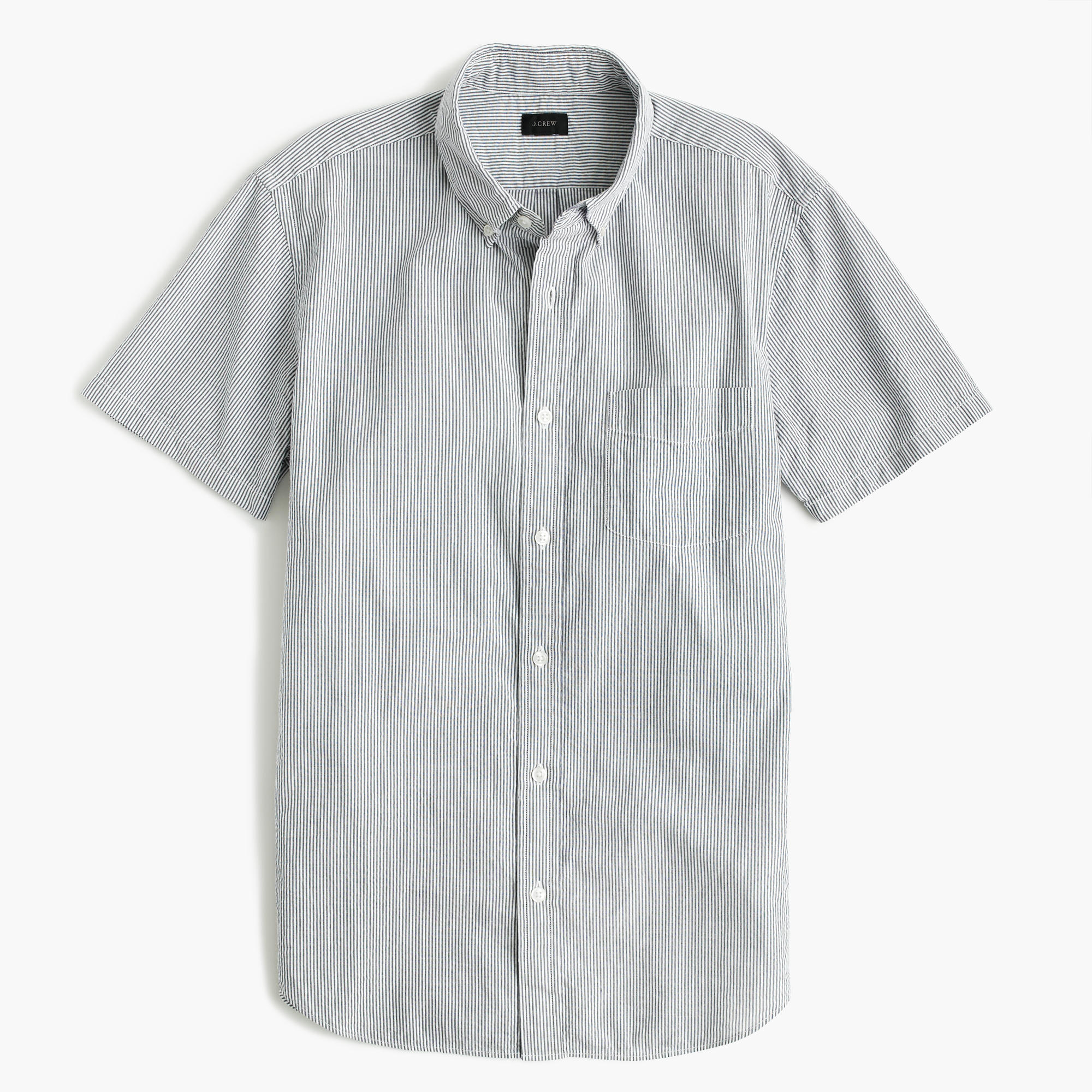 Mens Seersucker Shirts Short Sleeve