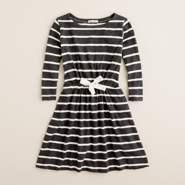 Girls' jitterbug stripe dress