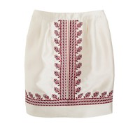 Embroidered silk skirt