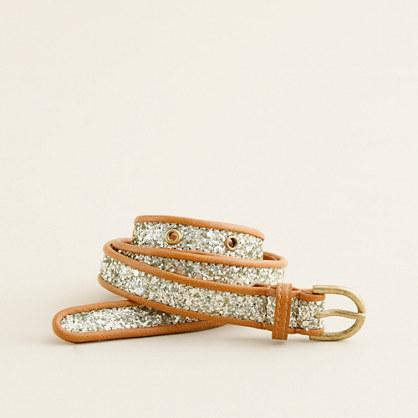 Piped glitter belt