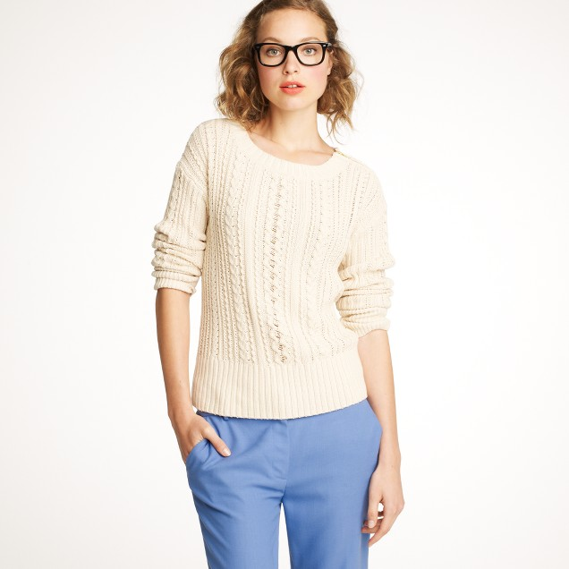 Zip-cable sweater