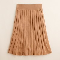 Merino pleated skirt