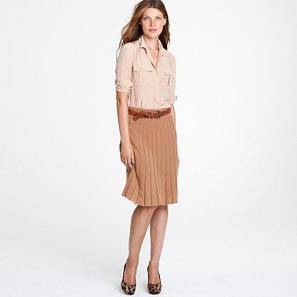 Merino pleated skirt
