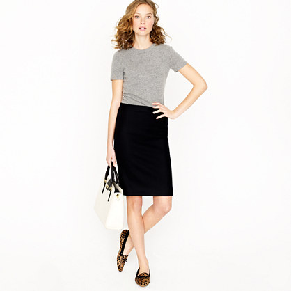 Petite pencil skirt in wool