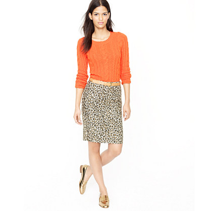 No. 2 pencil skirt in leopard