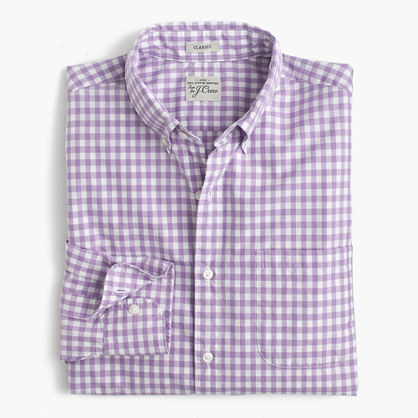Secret Wash shirt in Jenson gingham