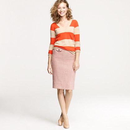 Petite No. 2 pencil skirt in vintage tweed