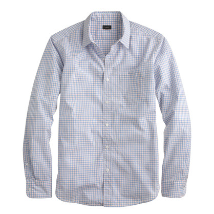 Slim Secret Wash shirt in mini-tattersall