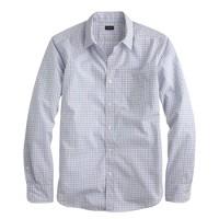 Slim Secret Wash shirt in mini-tattersall