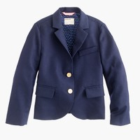 Girls' two-button schoolboy blazer