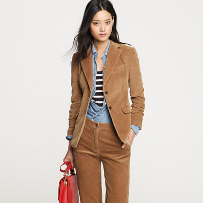 This blazer features a slim, feminine fit and a cozy corduroy fabric, just in time for fall. Peek inside and you'll discover something we like to call