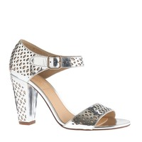 Vega metallic perforated sandals
