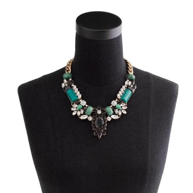 Crystal-encrusted collar necklace