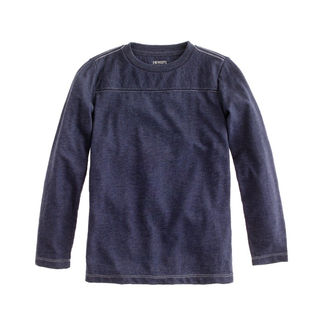 Boys' long-sleeve football tee